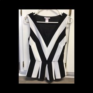 Black and white Esley top